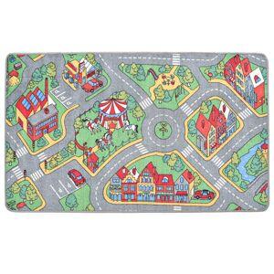 vidaXL városi utcákat ábrázoló játszószőnyeg 80 x 120 cm