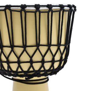 vidaXL kecskebőr djembe dob feszítőkötéllel 35,5 cm