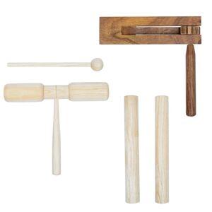 vidaXL 3 részes fa ütőhangszer-készlet