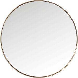 Kare Design Round Curve kerek tükör rézszínű kerettel, ⌀100cm - Kare Design