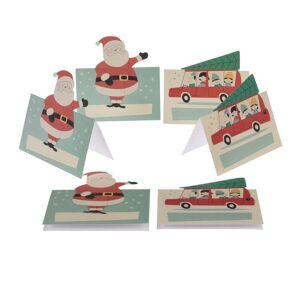 Rex London Festive Family 6 db névkártya karácsonyi motívummal - Rex London
