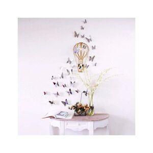 Ambiance Mirror Butterflies 3D hatású 12 db-os falmatrica szett - Ambiance