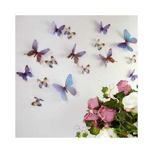 Ambiance Butterflies kék 3D hatású 18 db-os falmatrica szett - Ambiance
