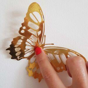 Ambiance Butterflies Gold 36 db öntapadós aranyszínű pillangó - Ambiance