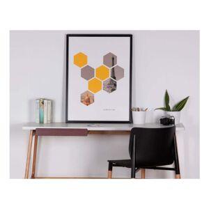 sømcasa Hexagons kép, 60 x 80 cm - sømcasa
