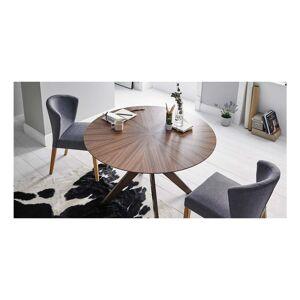 sømcasa Carmel diófa mintás étkezőasztal, ⌀ 120 cm - sømcasa