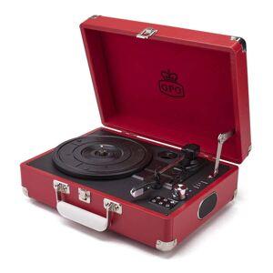 GPO Attache Red piros lemezjátszó rádióval - GPO