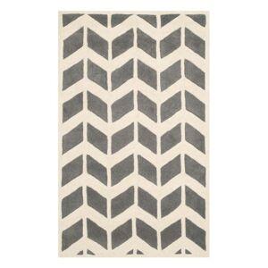 Safavieh Brenna szürke gyapjúszőnyeg, 121 x 182 cm - Safavieh