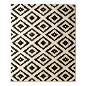 Hanse Home Hamla Diamond fekete szőnyeg, 120 x 170 cm - Hanse Home