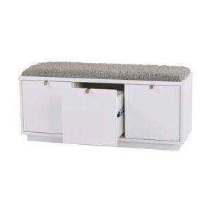 Rowico Confetti fehér ülőpad tárolóhellyel és szürke ülőrésszel, szélesség 106 cm - Rowico