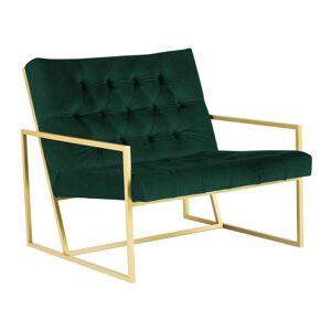 Mazzini Sofas Bono zöld fotel aranyszínű konstrukcióval - Mazzini Sofas