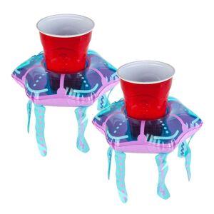 Big Mouth Inc. 2 db-os, medúza formájú, felfújható úszó italtartó szett - Big Mouth Inc.