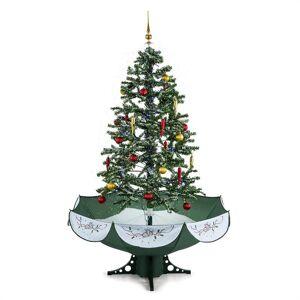 OneConcept Everwhite műfenyő, karácsonyfa, 180 cm, hóhullás hatás, LED, zöld