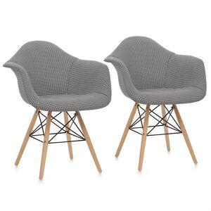 OneConcept Visconti kagylóüléses szék, 2-részes készlet, párnázott, PP-konstrukció, fekete