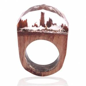 IZMAEL Wood Resin Gyűrű Tip3-Kristály/57mm KP5323