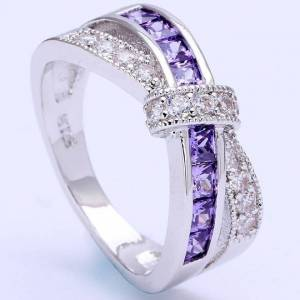 IZMAEL Divine Gyűrű - Ezüst/Lila/54,4mm KP2339