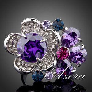 IZMAEL Flower AZORA Gyűrű - Lila KP503