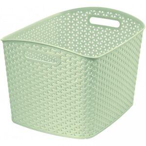 CURVER Polirattan kosár STYLE box- XL- krémszínű CURVER