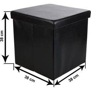 Stilista Összecsukható zsámoly tároló STILISTA® - fekete