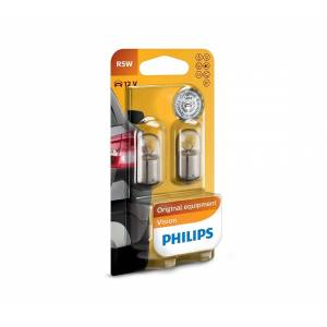 Philips Készlet 2 x autó izzó Philips VISION 12821B2 R5W BA15s/5W/12V P2283