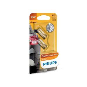 Philips Készlet 2 x autó izzó Philips VISION 12961B2 W5W W2,1x9,5d/5W/12V