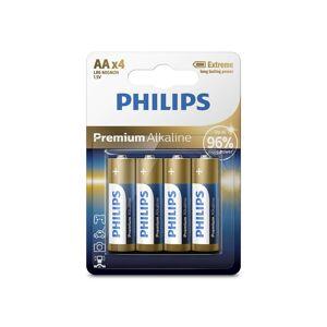 Philips LR6M4B/10 - 4 db alkáli elem AA PREMIUM ALKALINE 1,5V P2185