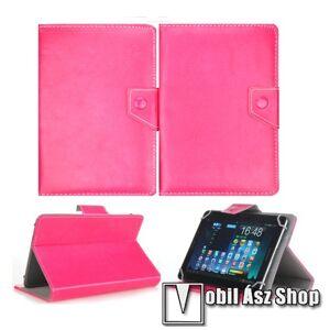 """Egyéb UNIVERZÁLIS notesz / mappa tablet PC tok - MAGENTA - álló, bőr, mágneses, asztali tartó funkciós, 8"""" készülékekhez - 215mm hosszú - 146-169 mm-ig állítható befogó keret"""