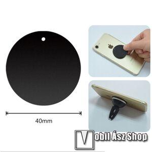 Egyéb Fémlap mágneses autós tartókhoz - ultravékony 0,5mm, kör alakú 40mm - FEKETE