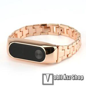 Egyéb Acél okosóra szíj - Xiaomi Mi Band 2  - ROSE GOLD