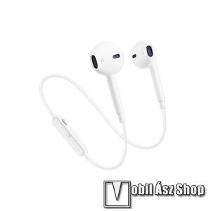 Egyéb SZTEREO bluetooth headset - FEHÉR - V4.1, MEGA BASS, felvevő gomb, hangerő szabályzó