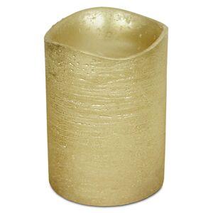 4-Home Viaszbevonatú LED gyertya, 7,6 x 10 cm, arany