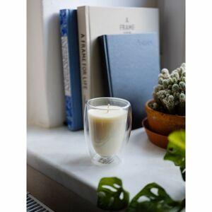 Maxxo Escential Orchid Noir gyertya üvegpohárban, természetes viasz, 250 g