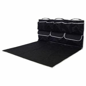 4-Home Csomagtartó védő zsebekkel, fekete