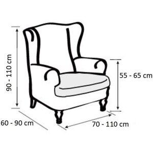 """4-Home Multielasztikus """"füles"""" fotel huzat szett, barna, 70 - 110 cm"""