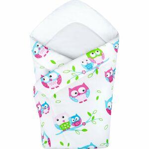 4-Home New Baby Baglyok gyermek pólya, fehér, 75 x 75 cm