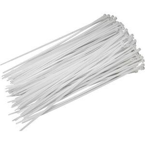 Normál kábelkötegelő 300x4,8 Fehér (25db/cs)