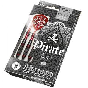 Harrows Darts nyíl Harrows Pirate Soft 18g K Red 3 db