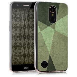 kwmobile LG K10 (2017) átlátszó tok - világos zöld