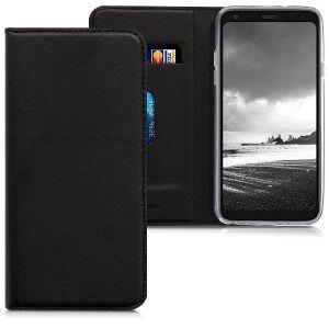 kwmobile LG Q7 flip burkolat - fekete