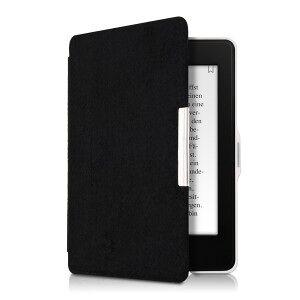 kwmobile Amazon Kindle Paperwhite 3 flip tok design finom gyapjú - fekete