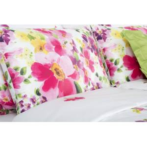 1 Glamonde Luxus pamut szatén ágynemű Primavera rózsaszín 70×90 cm 140×200 cm