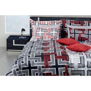 1 Glamonde Luxus pamut szatén ágynemű Leandro fekete-fehér 70×90 cm 140×220 cm