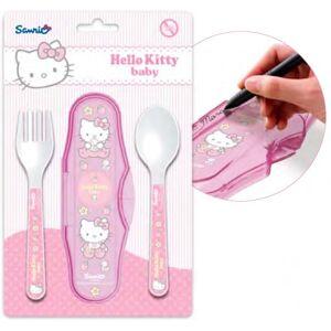 Sanrio Hello Kitty Baba utazó evőeszköz készlet