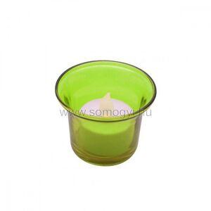 Somogyi Elektronic LED-es teamécses, zöld tartóval, 3V