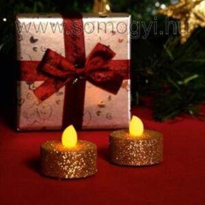 Somogyi Elektronic LED-es teamécses, arany glitter, 2 db, 3V