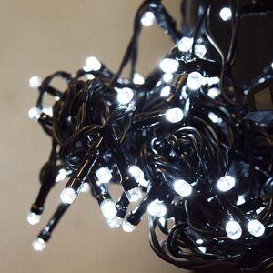 DekorTrend LED hideg fehér fényfüggöny 8 programos vezérlővel (fekete kábel)