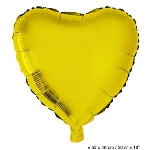 "Funny Fashion Fólia lufi,18""/45cm, szív, arany"