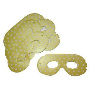 Mezőfi Team Papírszemüveg, pöttyös, sárga, 6 db/cs