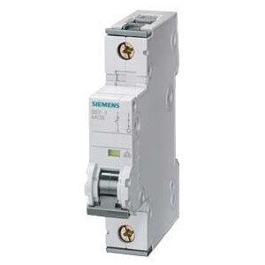 Siemens 5SY5115-7 kismegszakító DC áramkörökhöz 1P, 220V DC, 1,6A, C karakterisztika, 10 kA (Siemens 5SY51157)
