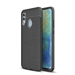 RMPACK Webshop Huawei P Smart 2019 Szilikon Tok Bőrmintázattal TPU Prémium Fekete